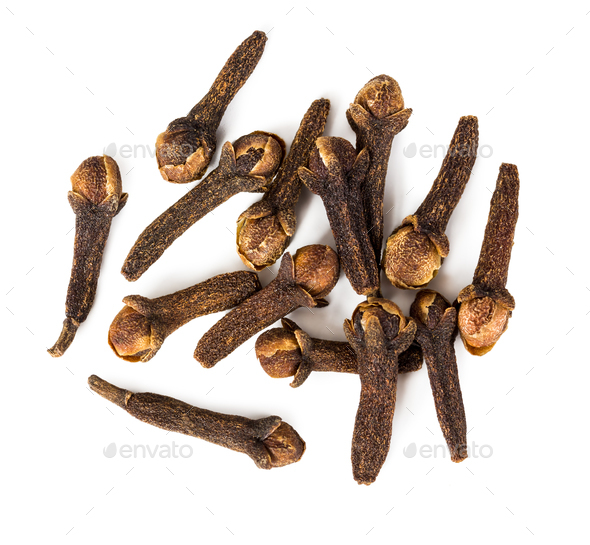 Spice cloves isolated on white background. - Stock Photo - Images