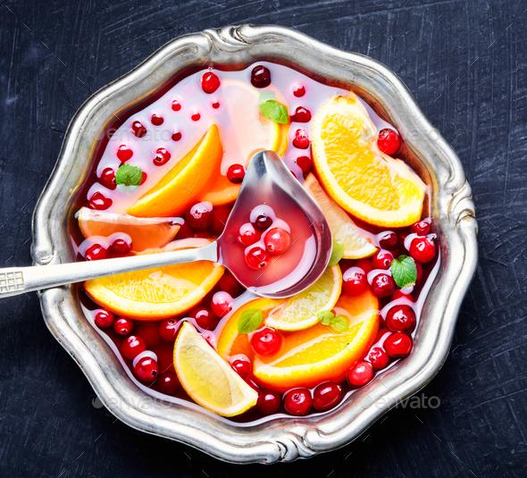 Christmas mulled wine - Stock Photo - Images
