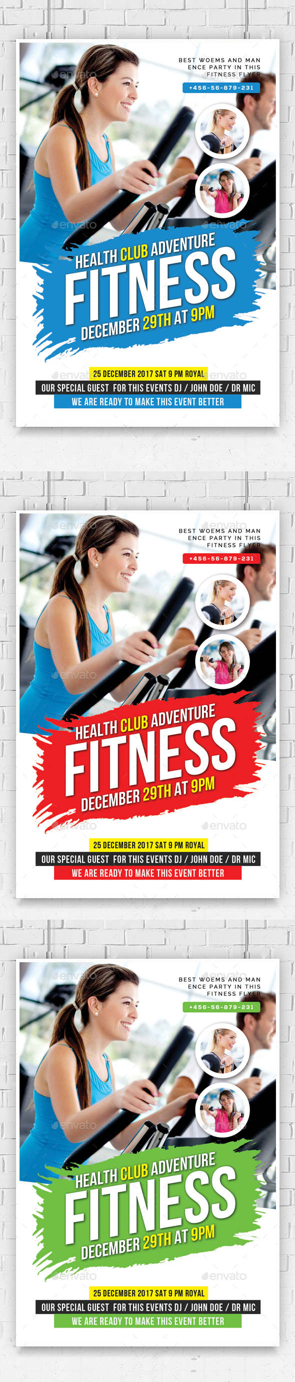 Fitness Health Flyers Template - Flyers Print Templates