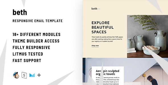Beth – Responsive Email + StampReady Builder - Email Templates Marketing