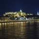 Panorama of Budapest at Night, Hungary. Beautifully Lit Bridges, Ships Sail Along the Danube - VideoHive Item for Sale