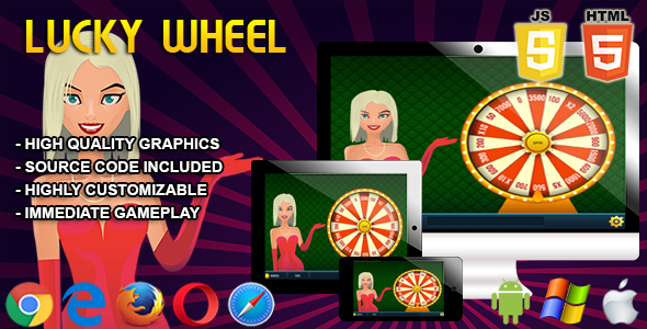 Lucky Wheel - HTML5 Casino Game - CodeCanyon Item for Sale