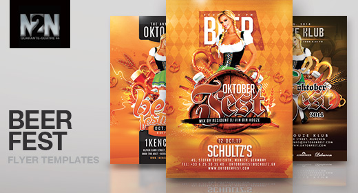 n2n44 beer festival and oktober fest flyer templates