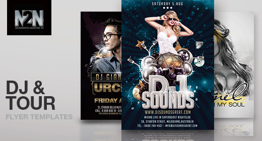 n2n44 dj flyer templates