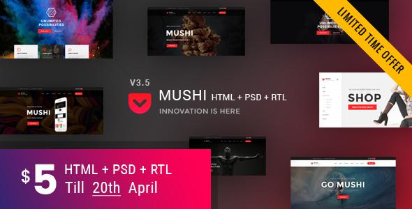 Mushi   Multipurpose HTML Template - Corporate Site Templates