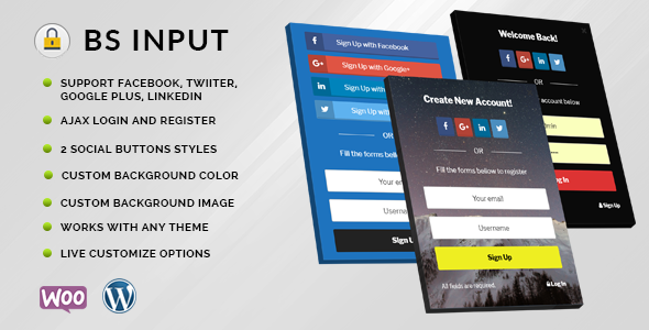 BS Input - Social Login and Register Popup With Shortcode Free Download | Nulled