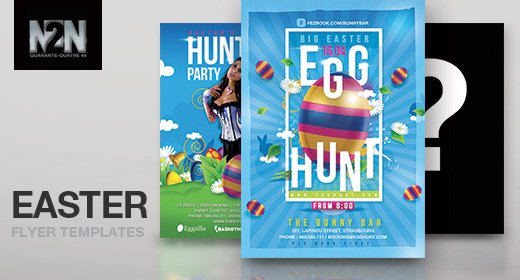 n2n44 easter flyer templates