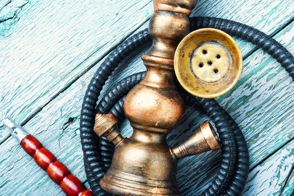 Stylish pineapple shisha - Stock Photo - Images