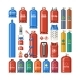 Gas Cylinder Vector Gas Bottles