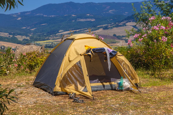 Camping Place Valley - Stock Photo - Images