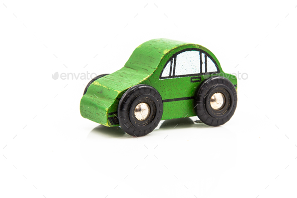 Wooden Car Toy - Stock Photo - Images