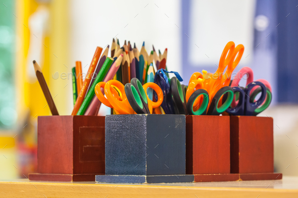 Education equipment in a Classroom - Stock Photo - Images
