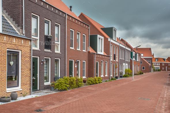 New Town Neighborhood - Stock Photo - Images