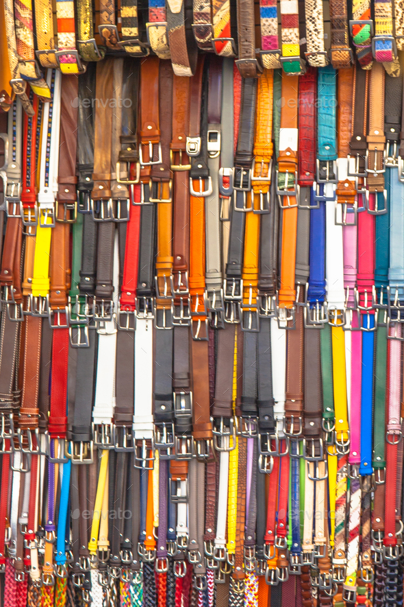 Background of Leather Pants Belts - Stock Photo - Images