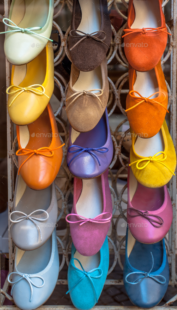 Colorful Italian Shoes - Stock Photo - Images