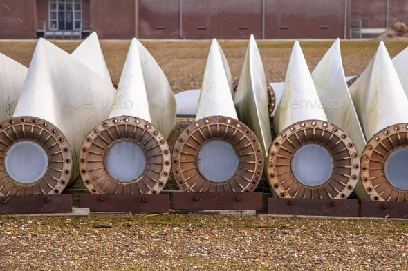 Spare wind turbine wings - Stock Photo - Images