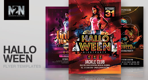 n2n44 halloween flyer templates