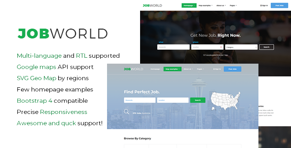 JobWorld - Job Portal HTML Template - Business Corporate