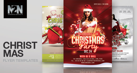 n2n44 christmas flyer templates