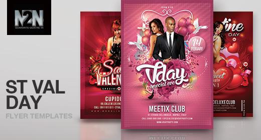 n2n44 saint valentine flyer templates
