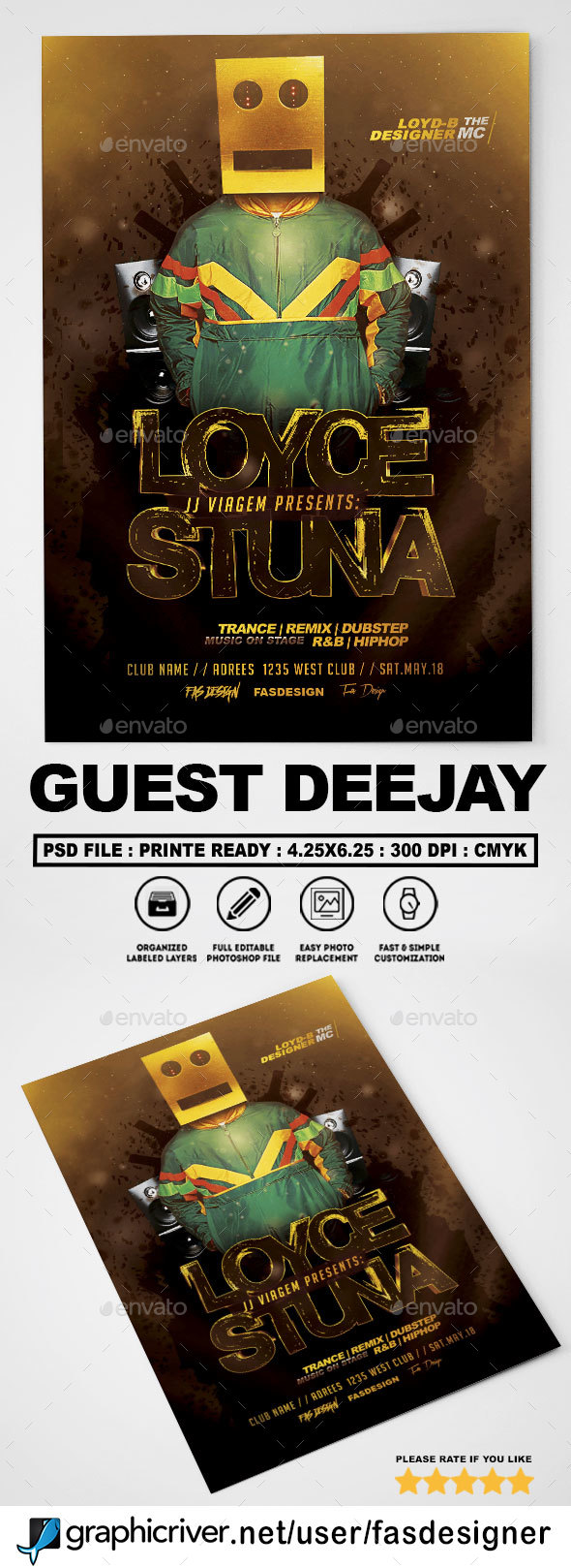 Guest Deejay v3 Flyer - Clubs & Parties Events