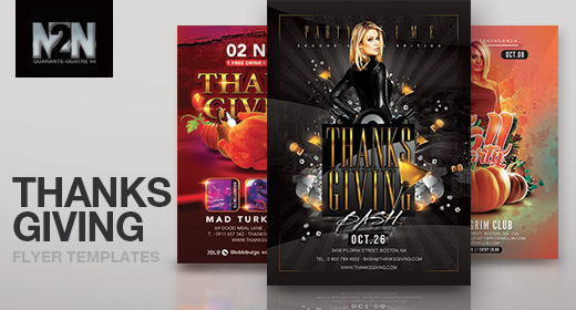 n2n44 thanksgiving flyer templates