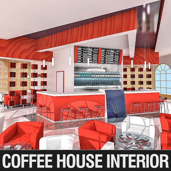 Coffee House Interior - 3DOcean Item for Sale