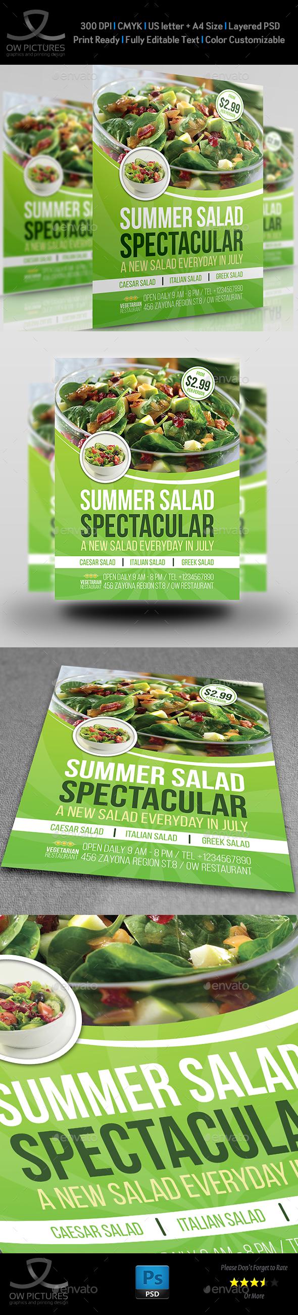 Salad Restaurant Flyer Template - Restaurant Flyers
