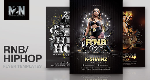 n2n44 rnb & hiphop flyer templates