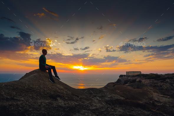 Enjoy the sunset - Stock Photo - Images