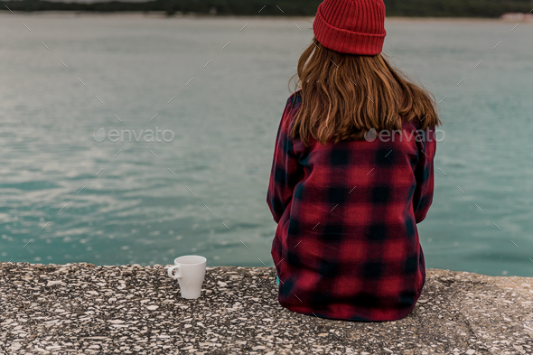 Love spending my day woth a hot coffee - Stock Photo - Images