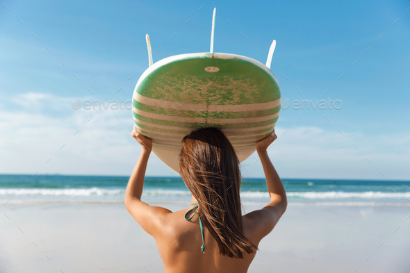 Surfer girl - Stock Photo - Images