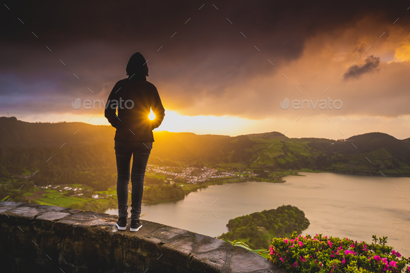 Enjoy the sunset - Stock Photo - Images