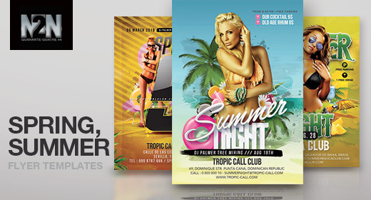 n2n44 spring and summer party flyer templates