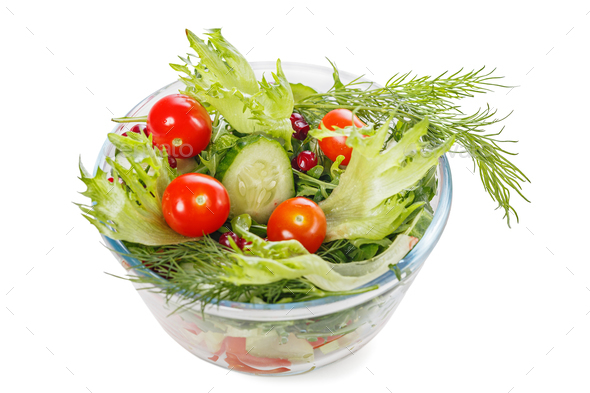 Salad with fresh vegetables - Stock Photo - Images
