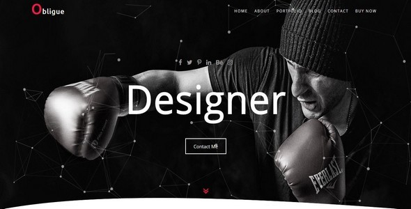 Obligue-Personal Template Free Download | Nulled