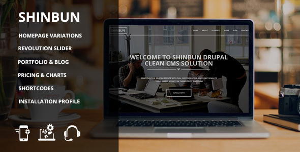 Image of SHINBUN - A multipurpose Drupal 7 template