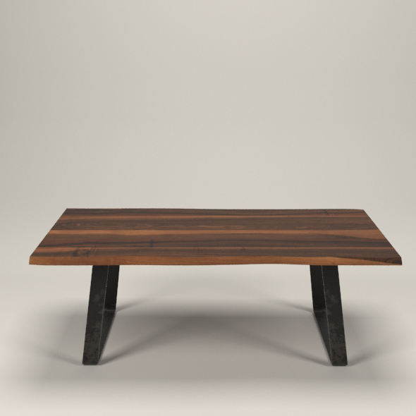 Live edge wallnut table - 3DOcean Item for Sale