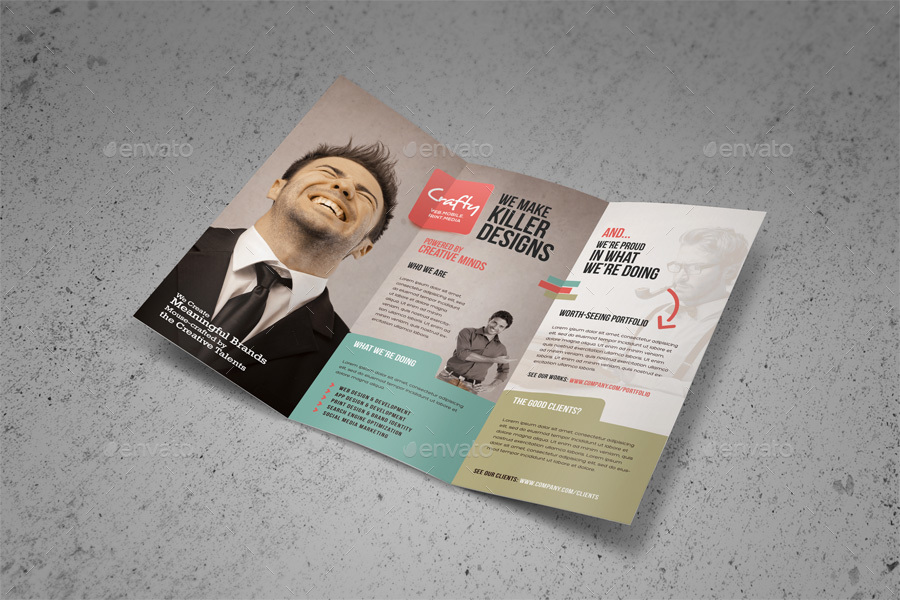 Creative Design Agency Trifold Brochure By Kinzi21