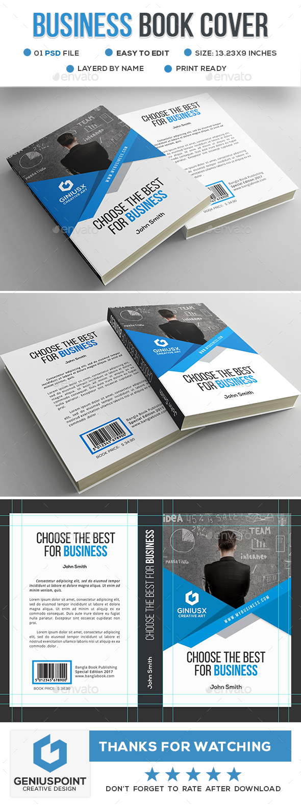Business Book Cover - Miscellaneous Print Templates