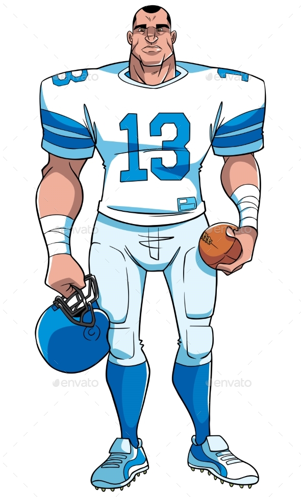 American Football Player - Sports/Activity Conceptual