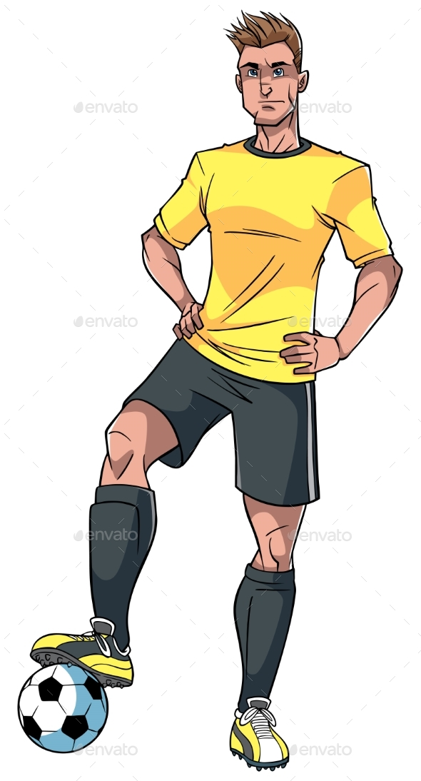 Football Player Illustration - Sports/Activity Conceptual