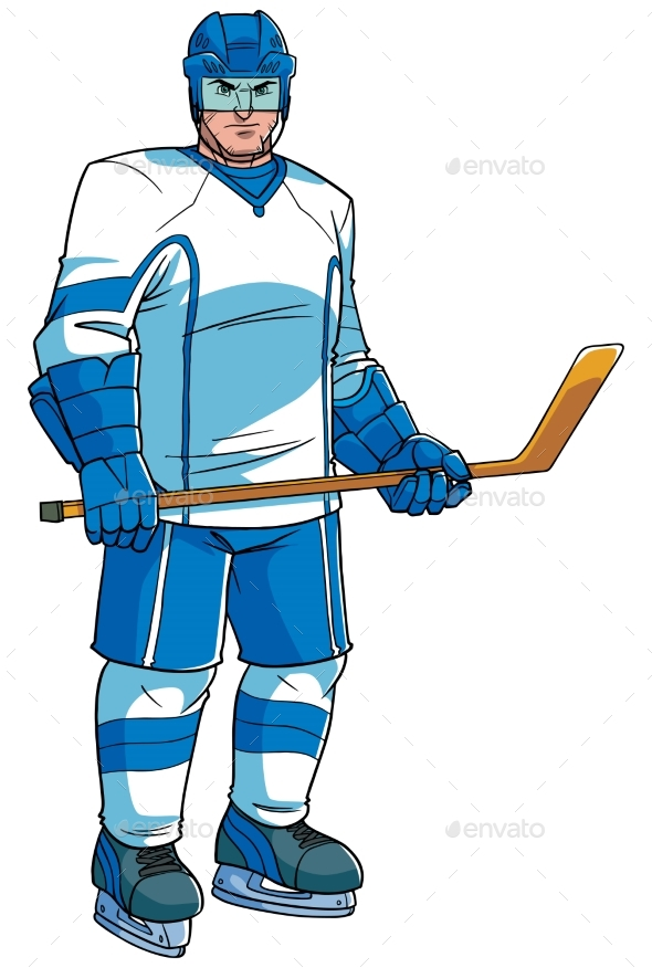 Hockey Player Illustration - Sports/Activity Conceptual