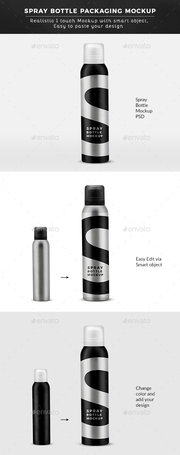 Deo Spray Bottle Mock up - Graphics