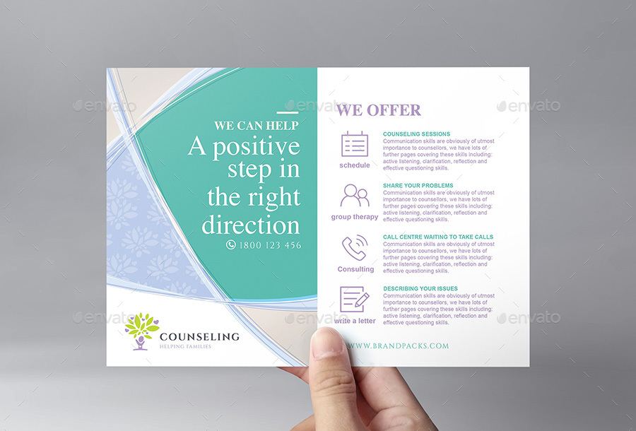 Counselling Service Flyer Template