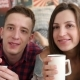 Young Couple Drink Coffee in Bed - VideoHive Item for Sale