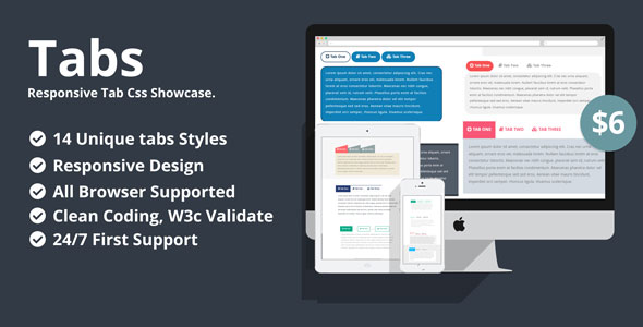 Tabs- Responsive Tab Css Showcase - CodeCanyon Item for Sale