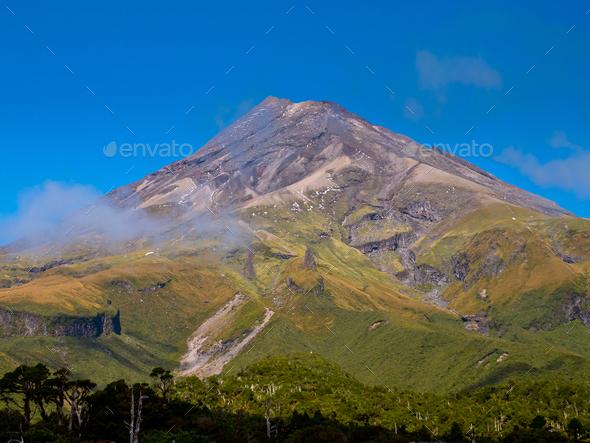 Mount Egmont or Taranaki Volcano, New Zealand - Stock Photo - Images