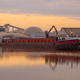 Barge Being Loaded at a Harbour in The Netherlands - PhotoDune Item for Sale