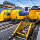 Three modern trains waiting at station - PhotoDune Item for Sale